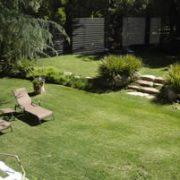 Garden area around the room